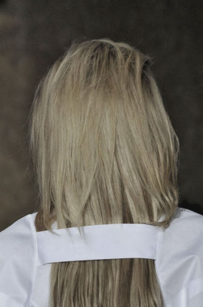 sexrova:  Julia Nobis at Maison Martin Margiela Fall 2013 Detail