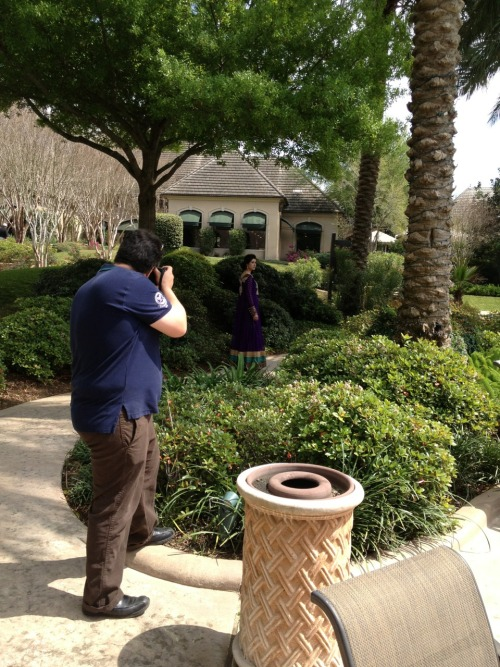 BTS for Ad campaign for Sameera Faridi Design Studio @ Poshak Houston
