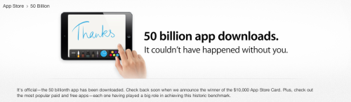 Apple: Over 50 billion apps downloaded from the App StoreDetails: http://nbcnews.to/YZ4RUT
