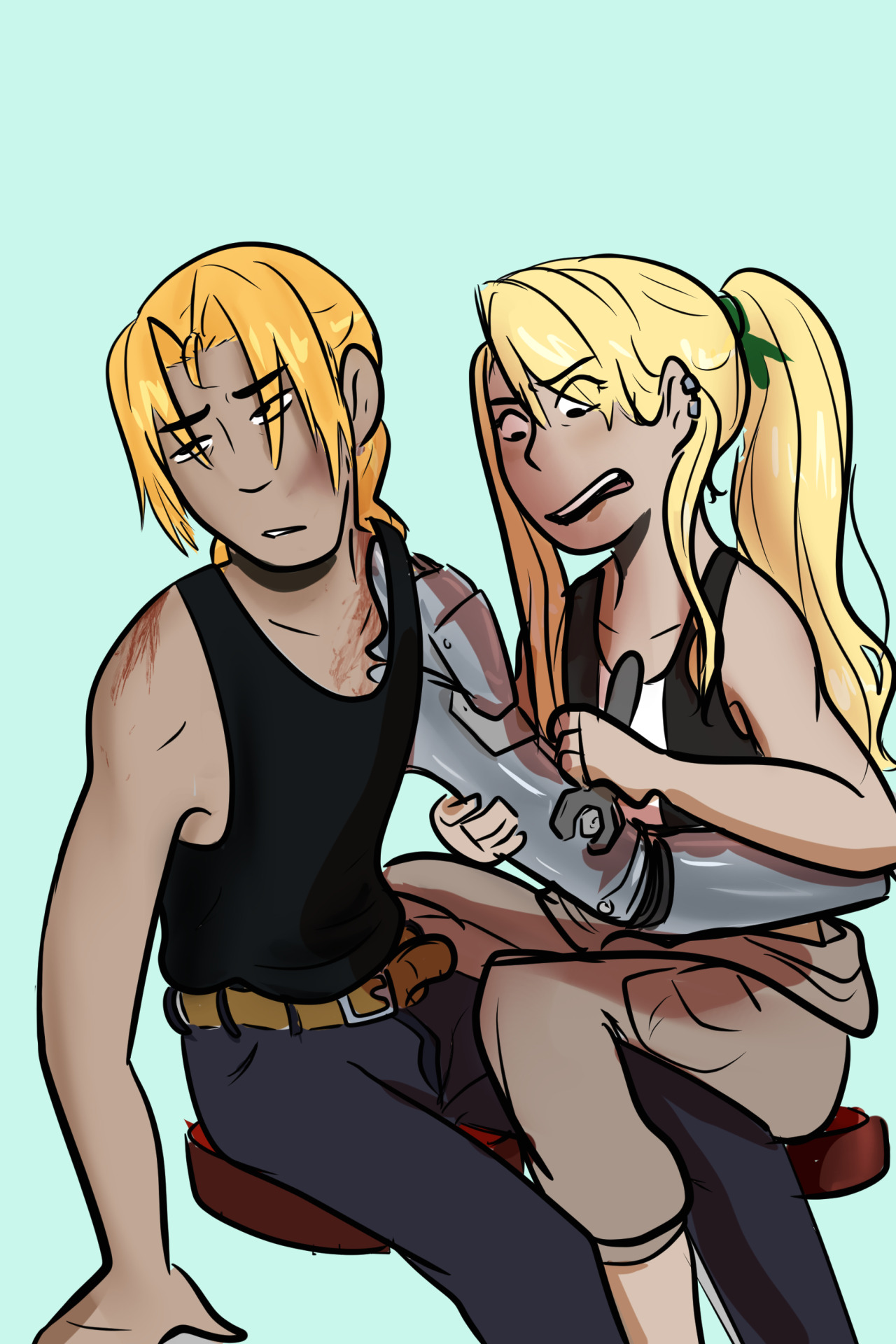 Winry: damit Ed, one of these days I'm gonna say no figure it out your selfEd: I know…Winry: (goes on a rant about how Ed should treat his prospects better)Ed: yeah I know #fmab#fma winry#fullmetal alchemist #fullmetal alchemist brotherhood #fma edward #finished fmab in like 2 weeks #anime#fanart