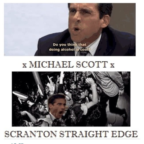 breedingbacteria:  Not the best I've seen. But pretty good. #theoffice #straightedge #xmichaelscottx