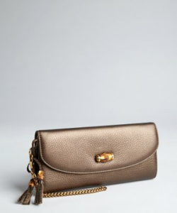 Gucci golden brown 'Bamboo Night' chain wristlet clutch via http://bit.ly/XssgGy