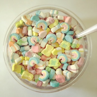 Lucky charms - just the marshmallows