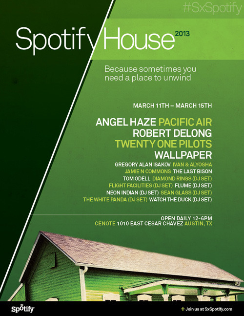 going to be in Austin for SXSW? we will be stopping by the Spotify House to play a live set. get on the list and dance with us by RSVPing HERE!