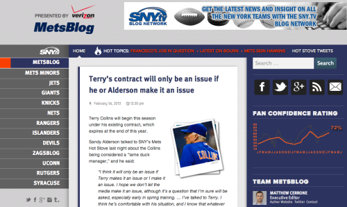"""One day, I stumbled upon Matt Cerrome's MetsBlog, and it changed the way I get my news about the team."" Read: The Little (Mets)Blog That Could - Digital Firefly Marketing"