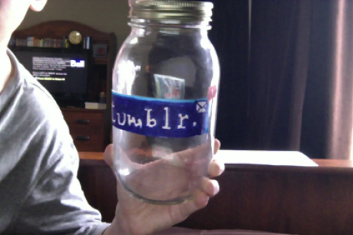 garrythesnail:  Okay so this is my tumblr jar, every time someone reblogs this picture I will write their url on a piece of paper and put it in the jar, at the end of May I will be picking a url a day and sending who I pick a nice/sweet ask and putting your url paper somewhere in my school :) Please reblog so I can fill up the jar.