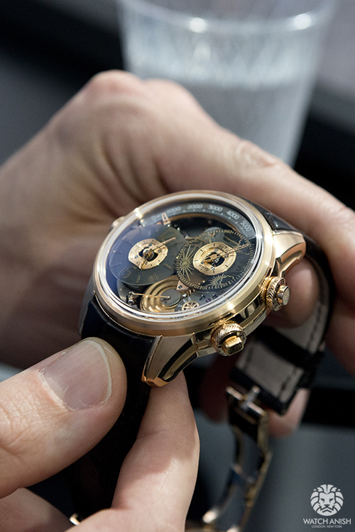 watchanish:  Breva Genie 01 in 18k rose gold