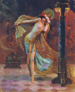 bangbang-thatawfulsound:  Dance of the Veils - Gaston Bussiere