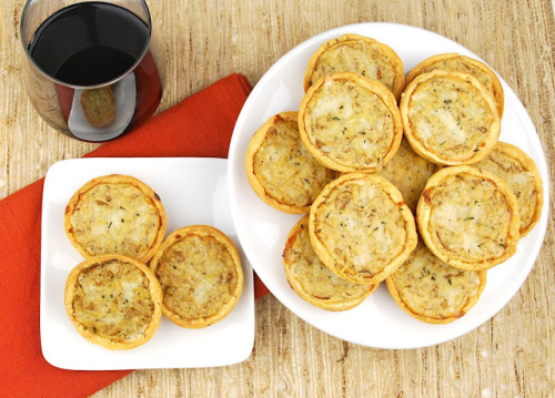 in-my-mouth:  Caramelized Onion and Gruyere Tartlets