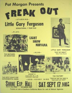 theswinginsixties:  'Freak Out' - 1966 concert featuring The Mothers of Invention and more…