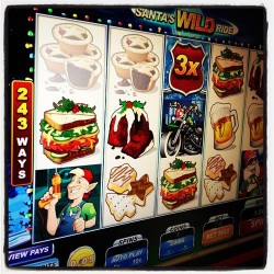 Hop in and take a ride in Santa's Wild Ride online slot game at http://www.virgingames.com/casino