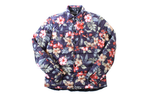 moncler ss13 floral down reversible shirt.