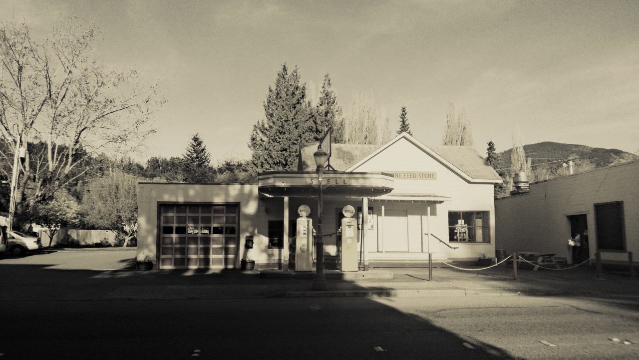 Old gas station. Taken with my Lumia 920.