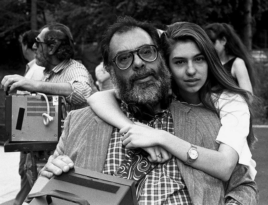 suicideblonde:  Francis Ford Coppola and Sofia Coppola