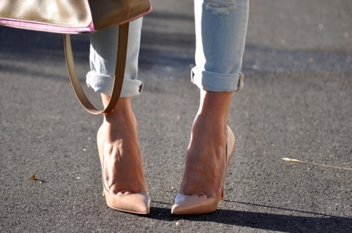 beige classy girly heels pointy heels shoes