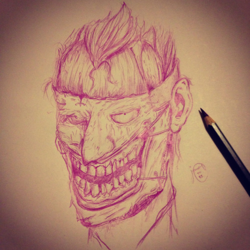 Late night sketching - the joker from the new 52 batman