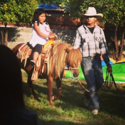 Once again. Only at Mexican birthday parties haha. They brought 2 ponies!