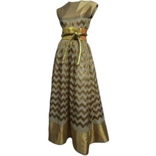 Gown   ❤ liked on Polyvore (see more chevron print dresses)