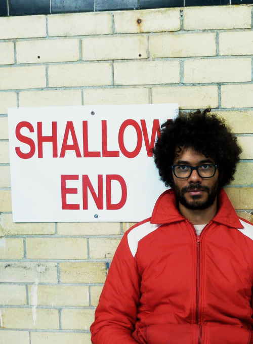 pickledelephant:  Richard Ayoade while filming Submarine (2010)