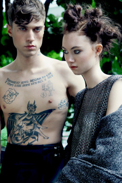 Ben Palmer and Kitty @Selectmodels by Diago Mariotta Mendez for Rough Magazine