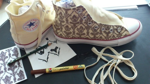 thescienceofjohnlock:  severalfandomart:  I'm making my own 221B shoes. What do you think?  Its very exhausting but it will be great when I have them done. I'll take then with me when I'm visiting London and the Bakerstreet this summer, definitely. Any ideas which quite I should write on the back?  OMFG WANT!