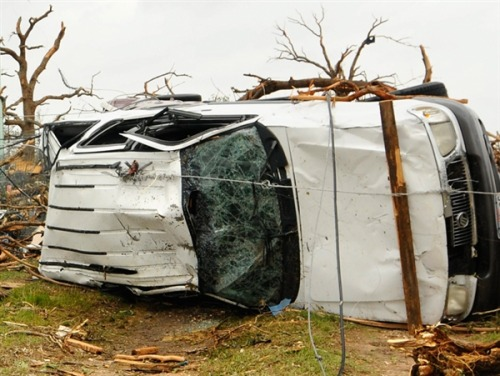 nbcnews:  'I couldn't stop screaming': Witnesses describe Texas tornadoes (Photo: Ralph Lauer / EPA) Survivors of the tornadoes that devastated two towns in Texas on Wednesday night described their terror as the violent storm tore apart their homes, killing six people and injuring dozens more. Read the complete story.  The spate of extreme, hazardous weather we've seen over the last year or so has been truly disturbing, which is not to say the people of Texas aren't in the know about tornado threats. Regardless, though, the damage and human toll here is deflating. Our thoughts are with the victims, stripped of their homes, and for some, their lives.