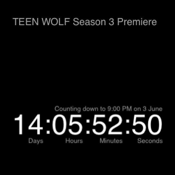 teresaguadagni-musicislife:  #teenwolf #season3premiere #june3 #14days #2weeks #moonday #wolfies !!!!!!!!!!