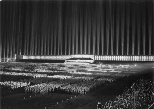 collective-history:  Cathedral of Light, Nuremberg - 1936