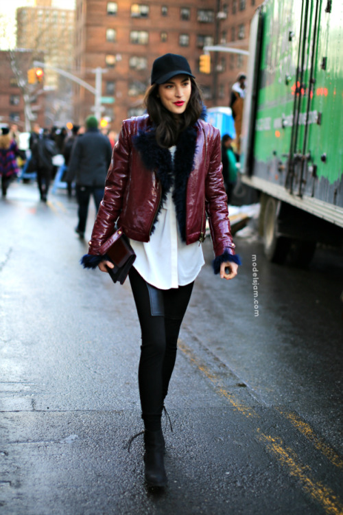 JJ after DvF FW 2013 by Pier  (♥_♥) guys, check out Pier's photo on vogue.it