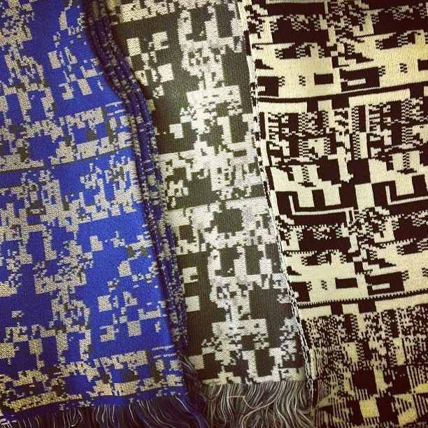 glitchaus:   8bit + 16bit edition scarves getting ready to go to NYC, Chicago, & Philly*