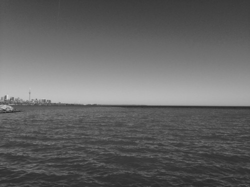 Toronto and the Lake Ontario.