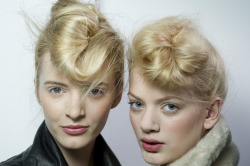 modcloth:  Awesome updos at Fendi via Team Peter Stigter.