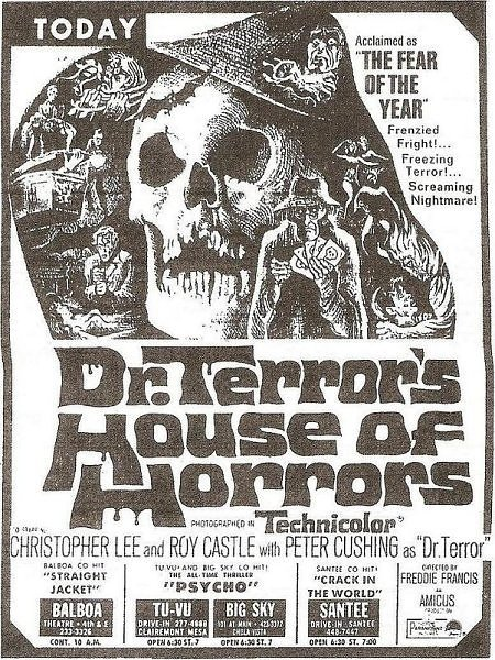 Ad for Dr. Terror's House of Horrors (1965)