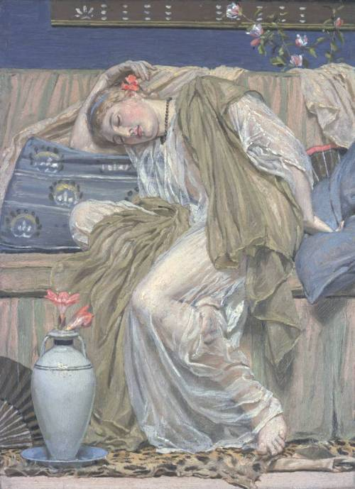 Albert Moore, A Sleeping Girl, c.1875