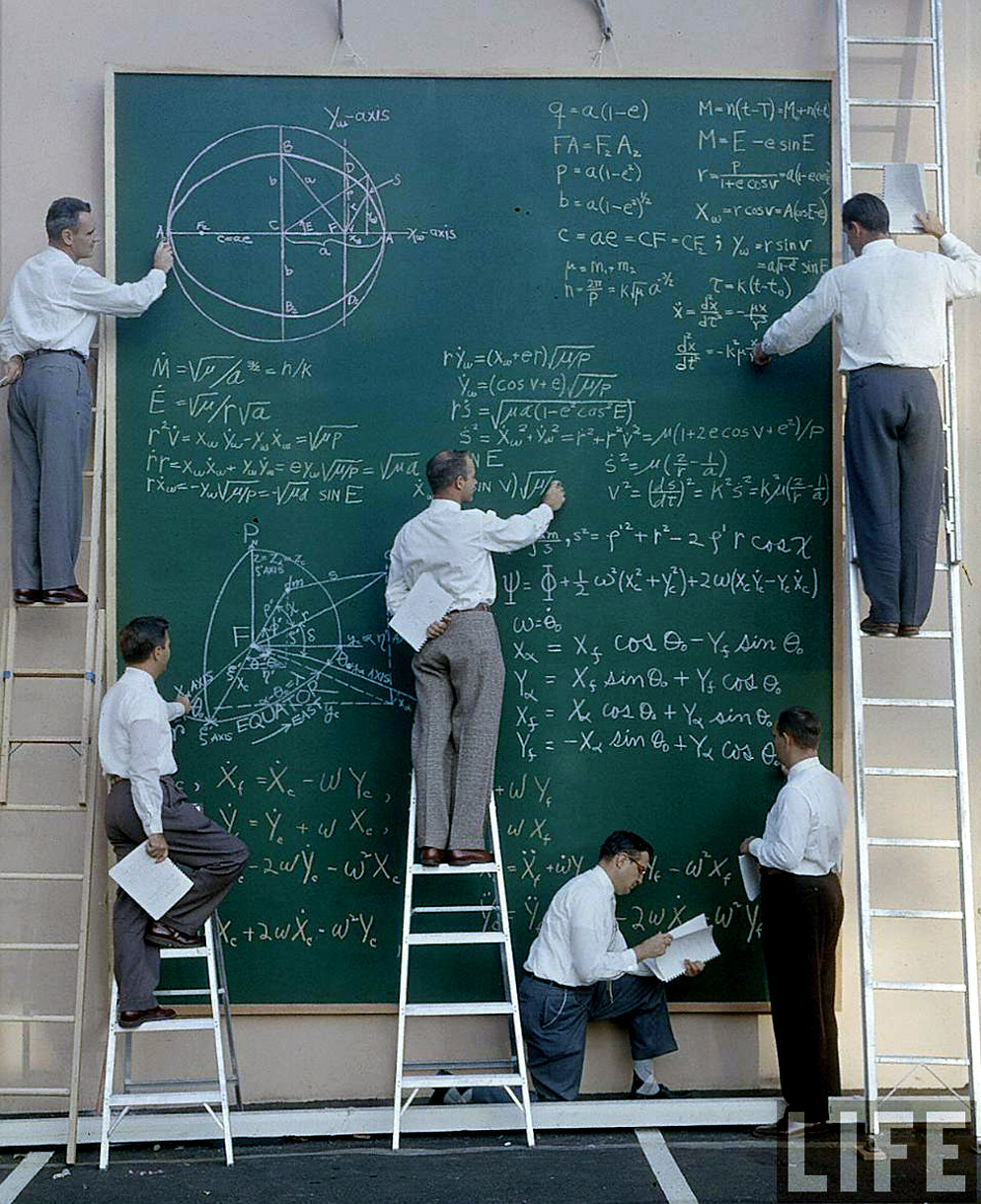 historicporn:  Nasa before Powerpoint, 1960's.