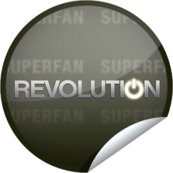 I just unlocked the Revolution Superfan sticker on GetGlue                      722 others have also unlocked the Revolution Superfan sticker on GetGlue.com                  You've made your way out of the darkness! Congrats you are a superfan of Revolution. Thanks for checking-in to the first season on NBC. Share this one proudly. It's from our friends at NBC.
