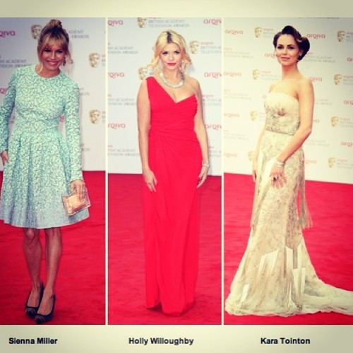 Who was your best dressed at the TV BAFTAS 2013? #style #baftas #tvbaftas #siennamiller #fashion #redcarpet #hollywilloughby #karatointon #like #love #instagood #inspiring