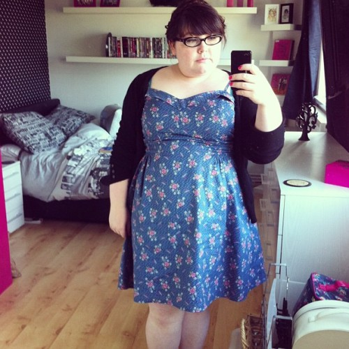 lapocketrocket:  Lazy Sunday #ootd - love my sundress from Very last year. #fatshion #plussize