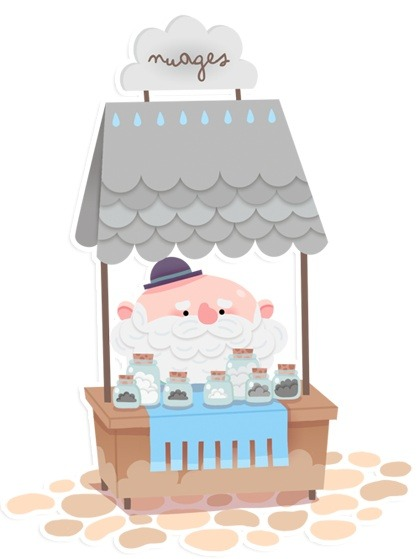 The cloud vendor | Illustration by Maelle Cheval