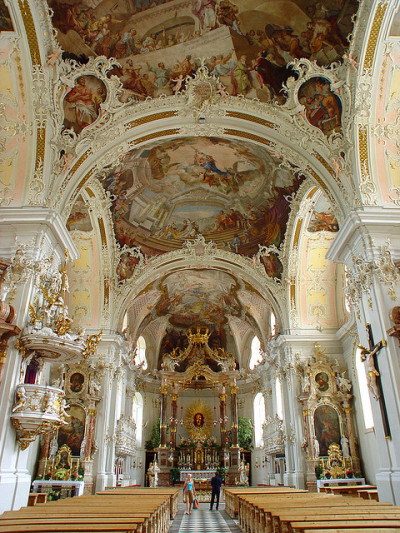 visitheworld:  Baroque architecture at Wilten Basilica in Innsbruck, Austria (by earthmagnified).