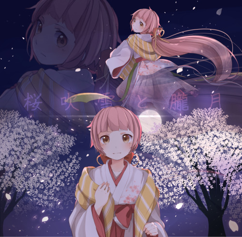 myvocaloid:  Credit To: 佳奈 (✖) Kimuta feat. Iroha - A Storm of Blossoms and the Hazy Moon (Original)