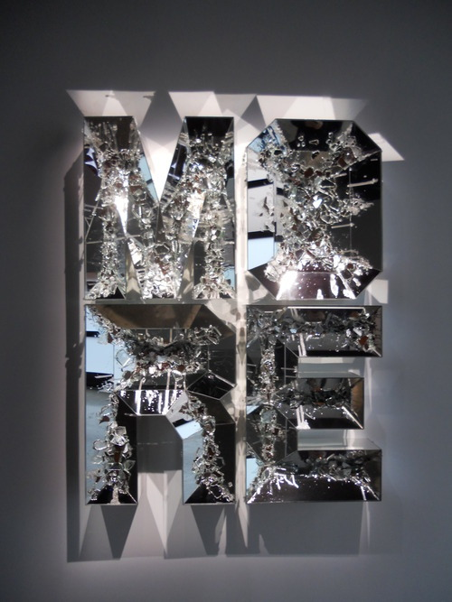Doug Aitken, More (shattered pour) (2013), high density foam, wood, and mirror, 65 x 49 x 6 inches, courtesy of 303 Gallery. Diane Pellicone, our intrepid CUAG Art Critic, went to New York City and spent some time touring around the Chelsea gallery scene. Here are her highlights from the trip!