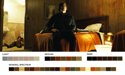 astronautmikedexter:  A study of color - No Country For Old Men Cinematographer - Roger Deakins