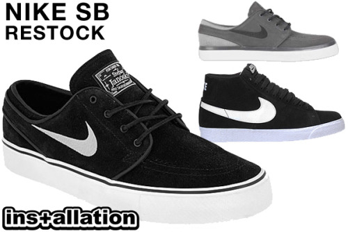 Janoski & Blazer SB restock! Available @ Installation Shoe Gallery