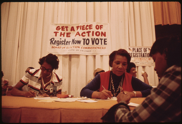 A beautiful thing. Registering to vote. nativethoughts:  Voter Registration Drive.