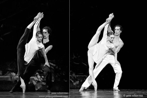 "balletequalslife:  Jurgita Dronina and Luca Vetere in ""Moving Glass""rehearsal and performance shots"