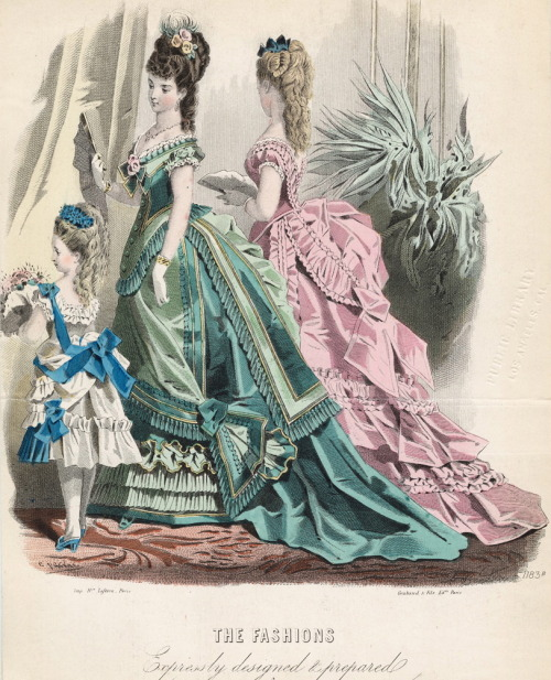 jailagracedunearchiduchesse:  Fashions of 1875