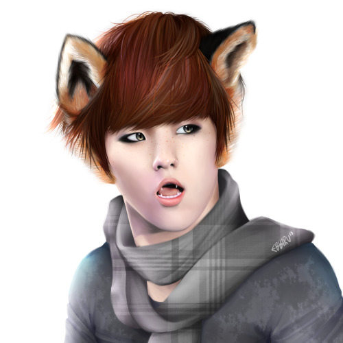exobbiru:  Foxy Baekhyun for Rahaina's b-day -u- asdfghjhgfdsdfghgfd Everyone go wish her a great day ;u;Ya, gurl just have a super time ok!!! <33Art: Ebbiru