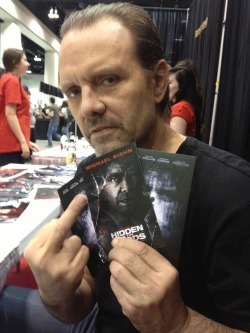 Hi from Michael Biehn at Calgary Expo for The Victim and Hidden in the Woods