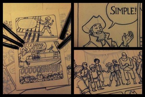 Plunged into inking Baggywrinkles #4 this week. Gotta finish twelve pages before Monday so the comic can go to print in time for TCAF. LET'S DO THIS.